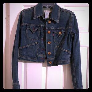 Levis cropped jean jacket